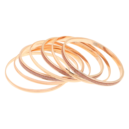 Unique Design Gold Plated Layered Metal Bracelets