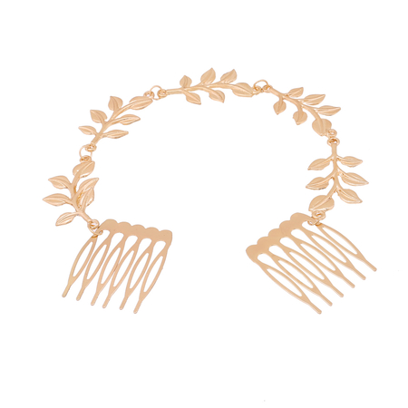 Golden Leaves Double-comb Hair Accessory