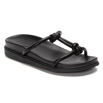 Black Simple Platfrom Slippers