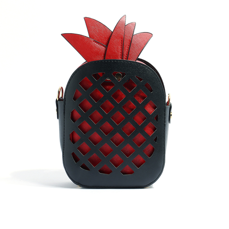 Red Pineapple Shape Fashion Crossbody Bags