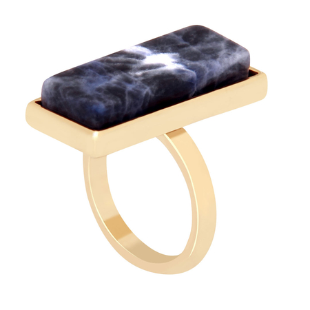 Rectangle Gemstone Ring