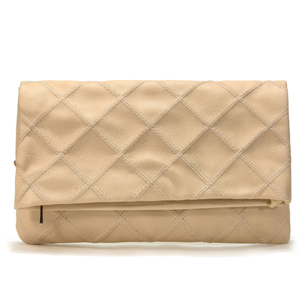 Cream Clutch Bag With The Magnetic Closure