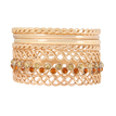 Multicolor Multilayer Bracelet with  Diamante Embellishment