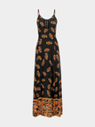 Camisole Maxi Dress In Cashew Print