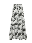 High-rise Waist Full Skirt With Floral Print