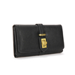 Black Purse With Fastener Design