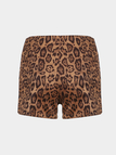 Zipper Shorts in Leopard Print