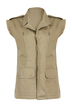 Green Gilet with Raw Edge Trims