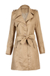 Long Sleeve Belt Trench Coat