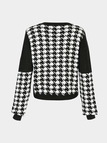 Jumper in Houndstooth Print