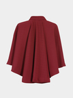 Cape Poncho in Red