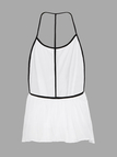 White Spaghetti Strap Backless Pleated Vest