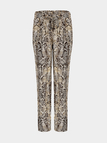 Drawstring Trousers with Snake Print