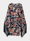 Floral Kimono with Fringing