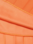 Orange Chiffon Pleated Maxi Skirt