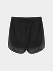 Black Elastic Waist Edge Running Shorts