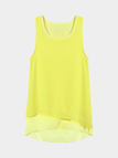 Layered Tank Top In Yellow