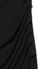 Black Wrap Sundress With Side Pleated