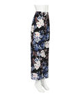 Chiffon Wide Leg Trousers In Floral Printed