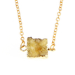 Square Stone Pendant Design Necklace