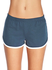 Deep Blue Elastic Waist Running Shorts