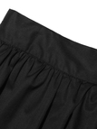 Black High-Rise Waist Skorts With Floucing Hem