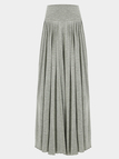 Gray Wide Cut Leg Trousers