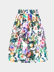 Multi Color High- Rise Waist Floral Print Full Skirt