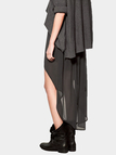 Grey High-Low Chiffon SKirt