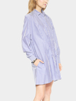 Stripped Long Sleeve Shirt Dress