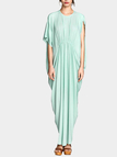Aquamarine Maxi Dress In Jersey