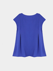 Sleeveless Blouse In Blue