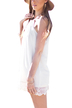Halter Tie Lace Hem Loose White Dress
