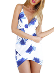 Wrap Front Mini Dress With Cami Straps