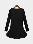Plus Size Flouncing Hem Long Sleeve Dress