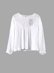 White Combined Lace Blouse