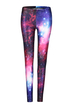 Leggings with All Over Galaxy Print