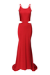 Red Maxi Dress with Self-tie Detail
