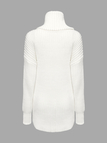 White Jumper with High Neckline