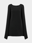 Cape Mini Dress in Black