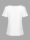 White T-Shirt with Letter Print