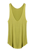 Green Scoop Neck Modal Vest