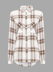Long Sleeve Check Print Blouse