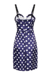 Polka Dot Dress With Plunging Neck