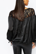Oversized Blouse with Lace Panels