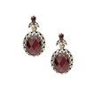 Burgundy Oval Resin Jewelry Set