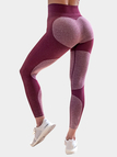 Active Contract Color Quick Drying Yoga Leggings in Red