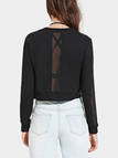 Mesh Panel Crop Sweatshirt