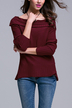 Red Fashion Off Shoulder Jumper