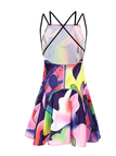 Backless Fantasy Colour Pattern Dress